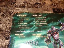 Megadeth Rare Band Signed Vinyl Record Super Collider Dave Mustaine Ellefson COA