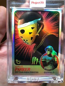 Project 70 2021 Topps Dave Parker By Alex Pardee Rainbow Foil #7/70