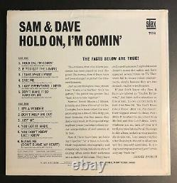 SAM & DAVE HOLD ON I'M COMIN' STAX MONO WHITE LABEL PROMO LP EX/VG+ coming
