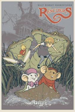 The rescuers by Dave petersen Rare sold out Mondo