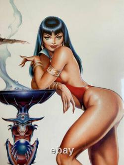 VAMPIRELLA- limited edition original art print by Dave Stevens! Signed #163/1200