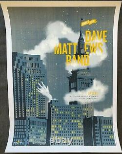 2008 Affiche Dave Matthews Band Cleveland, Oh Limited Edition