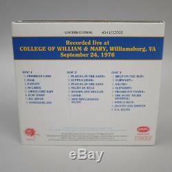24/09/76 Grateful Dead Daves Picks Vol 4 CD (2012) 3-disc Set Williamsburg En Direct