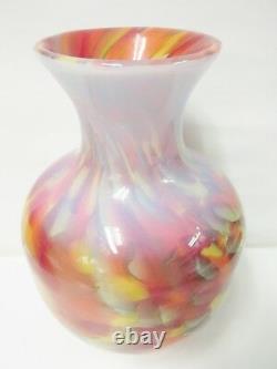 688246 Studio Fenton Dave Fetty Myraid Mist Vase, Hand Numbered Edition Limitée