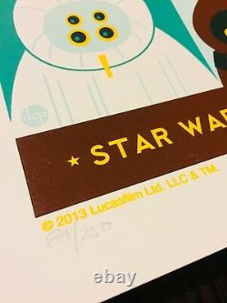 A New Hope Star Wars Episode IV Print 2013 Dave Perillo Mint Affiche