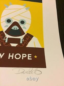 A New Hope Star Wars Episode IV Print 2013 Dave Perillo Mint Poster 85