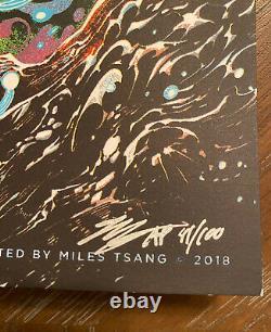 Affiche De La Bande Dave Matthews Virginia Beach 2018 Miles Tsang Numéroté #41/100