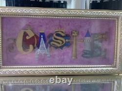 Authentic Disney Parks Castle Icon Shadow Box Frame Par Dave Avanzino
