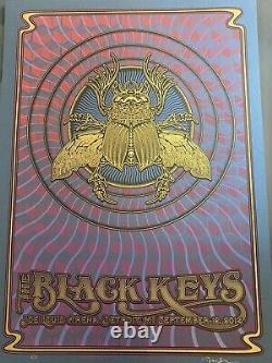 Black Keys Affiche 2014 Detroit Dave Hunter Rare Lapis Lazuli Starshine Variante