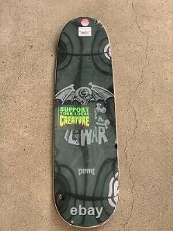 Créature Gwar Oderus Skateboards Dave Brockie Art 8,8 × 32,5 Limited Edition