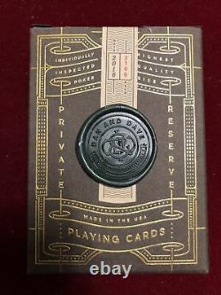 Dan Et Dave Private Reserve Playing Cards Nouveau Avec Joint De Cire