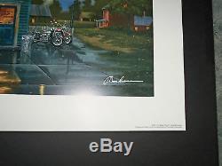 Dave Barnhouse Sam Place Signé (avec Harley Logo De) Très Rare Monnaie