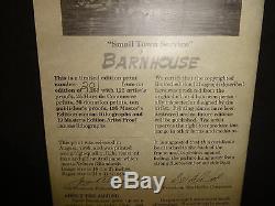 Dave Barnhouse Small Town Service Limited Édition Encadré Signée Imprimer # 201 Coa