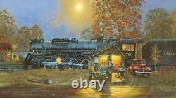 Dave Barnhouse Temps Passé Master Canvas Ap # 7 / 19 Trains À La Monnaie