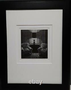 Dave Bruner Incandesent Edition Limitée Wood Block Black Ink Art Imprimé À La Main