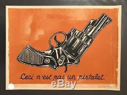 Dave Kinsey Not A Gun Signé Édition Limitée Rare Obey Banksy Faile