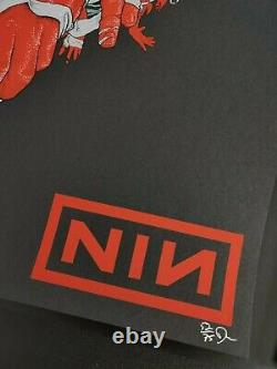 Dave Kloc Nine Inch Nails Boston Imprimé Signé #d/75 Nin Affiche De Concert Rare
