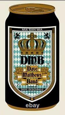 Dave Matthews Band Munich Affiche De Concert 2015 Edition Limitée Signée Et Numérotée