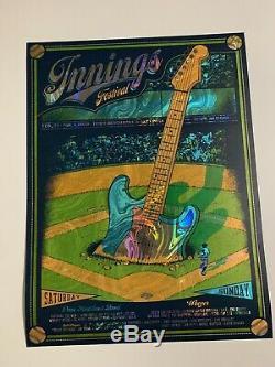 Dave Matthews Band Weezer Innings Foil Poster Limited Edition De 30