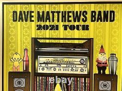 Dave Matthews Visite Du Groupe Poster 2021 Concert Dmb Édition Limitée