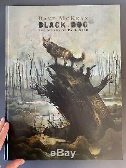 Dave Mckean Rêves Black Dog De Paul Nash Énorme Signé Limited Edition Relié