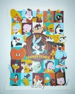 Dave Perillo Sérigraphie Looney Tunes (2019) Officiellement Sous Licence Bottleck