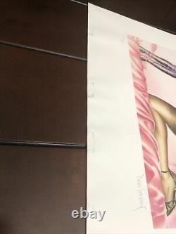 Dave Stevens A Signé Bettys Boudoir Edition Limitée Imprimer #193/450 - Livraison Gratuite