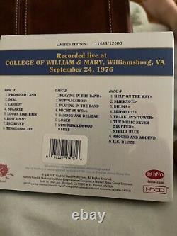 Dave's Picks 4 Vol Four William & Mary Virginia 9/24/1976 3 Nouveau Oop 11486/13000