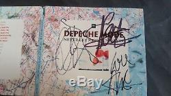 Depeche Mode Never Let Me Down CD Dédicacé Dave Gahan Martin Gore Andy Fletcher