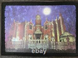 Disney Parks Haunted Mansion Wdw Dave Avanzino Wood Print Edition Limitée