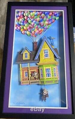 Disney Pixar Up Limited Edition Shadowbox Par Dave Avanzino Rare 13/20
