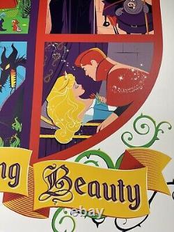 Disney Sleeping Beauty Art Screen Print Poster Par Dave Perillo X/100 Bng Mondo