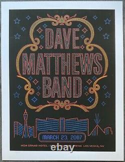 Édition Limitée De L'affiche Du Dave Matthews Band 2007