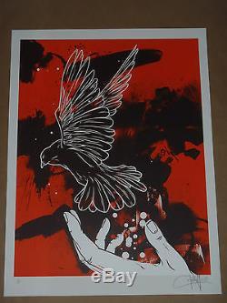 Emancipate Dave Kinsey Affiche Signée Sérigraphié Numérotée Fairey Obey Banksy