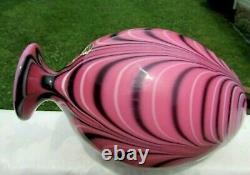 Fenton 1975 Robert Barber-dave Fetty Hyacinth Feather 12,5 Vase #232/450