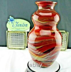 Fenton Art Glass 2006 Connoisseur Vase Par Dave Fetty Crayons Est #385 De 750