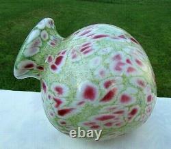 Fenton Art Glass Dave Fetty Monet's Garden #140/950 7.25h Vase
