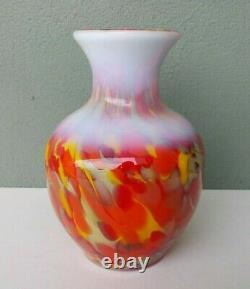 Fenton Art Glass Dave Fetty Myriad Mist Vase Édition Limitée