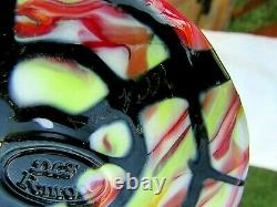 Fenton Art Glass Dave Fetty Original Ooak Signé Dave Fetty 03 Vase 11h