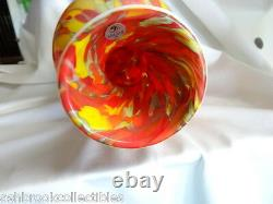 Fenton Art Glass Limited Vase Myriad Mist Dave Fetty Nouveauté En Boîte Multicolore