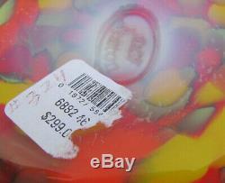 Fenton Art Glass Myriad Mist Par Dave Fetty Vase # 324/750 Nouvelle Boîte. 8.75h