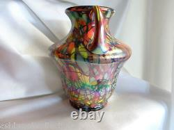 Fenton Art Glass Myriad Mosaic Vase Dave Fetty 43541n George Fenton