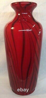 Fenton Art Glass Par Dave Ruby Fetty Royale Vase Soufflé À La Bouche Limitée À 250 # 10