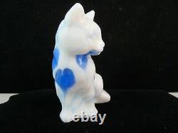 Fenton Dave Fetty Blown Glass Hanging Hearts Cat Ordonnance Spéciale 9 De 72 Signé
