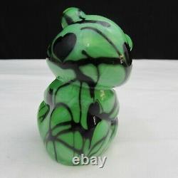 Fenton Dave Fetty Chameleon Vert Noir Coeurs Suspendus Ours Assis C2158