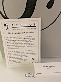 Fenton Dave Fetty Coeurs Suspendus Pitcher Withbase Connoisseur Collection 2003 Nib