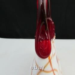 Fenton Dave Fetty Fetty White Avec Des Cœurs Suspendus Rouges Et Sac À Vignes W53