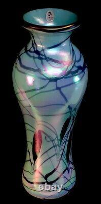 Fenton / Dave Fetty Hanging Hearts Robin's Egg Blue Vase Limited À 250