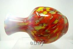 Fenton Dave Fetty Myriad Mist Vase 270/750 Avec Paperasserie Et Boîte 8 1/4