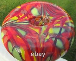 Fenton Dave Glass Fetty Tourbillon Immense Mosaïque Vase 13h Limited Edition # 255/750